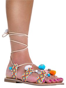 Chinese Laundry Ankle-strap Kickback Meta-related-product--shoes-poshcognacleat Poshbuffleat-11 Beige Sandals