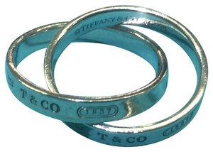 Tiffany & Co. Interlocking 1837 Sterling Silver Rings. Great Looking! Comes With Complimentary Gift!!!