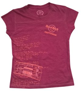 Hard Rock T Shirt Pink