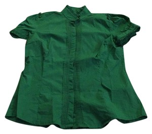 Zara Button Down Shirt Kelly green