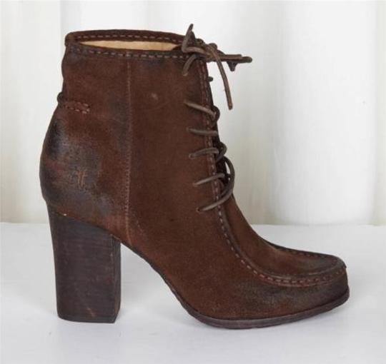 Frye Lace Up Brown Boots