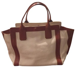 Chloé Tote in Off White & Tan