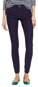 Madewell Printed Stretchy Ankle Skinny Pants PURPLE