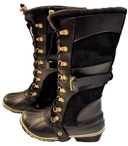 Sorel Boot Leather Suede Black Boots