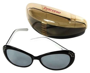 Diafuego Authentic DIAFUEGO Designer Sunglasses with NATURAL CLEAN DIAMONDS