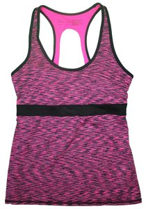 Ideology Ideology Women's Back-Cutout Active Tank Small Pink Space Dye