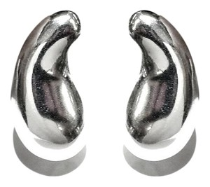 Tiffany & Co. Tiffany & Co Sterling Silver Bean Clip On Earrings