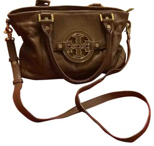 Tory Burch Top Handles Gold Hardware Satchel in Camel