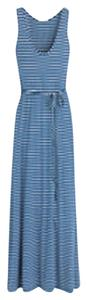 Blue and White Maxi Dress by J.Crew