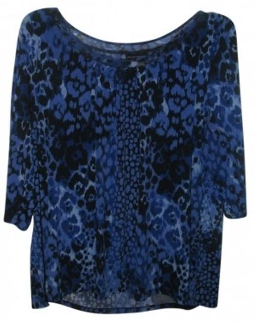 Preload https://item1.tradesy.com/images/just-my-size-blackblue-blouse-size-22-plus-2x-186885-0-0.jpg?width=400&height=650