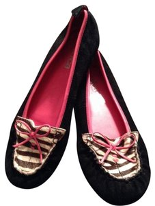 Kenneth Cole Black & Zebra Flats