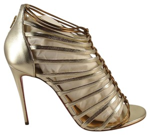 Christian Louboutin Milla Strappy Heels 39.5 Gold Pumps