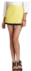 Diane von Furstenberg Mini Skirt Yellow and black