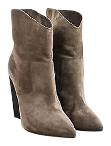Fendi Brown Suede High Gray Boots