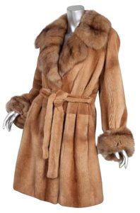 Other Mink Brown Sheared Fur Jacket Coat