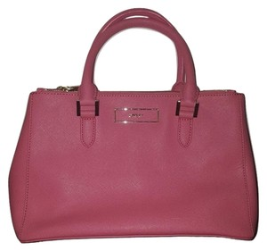 DKNY Leather Crossbody Satchel in Pink