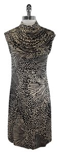 Trina Turk short dress Black & Beige Polka Dot Drape on Tradesy