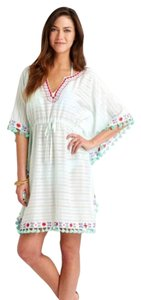 Vineyard Vines Stripe Mosaic Embroidered Cover Up