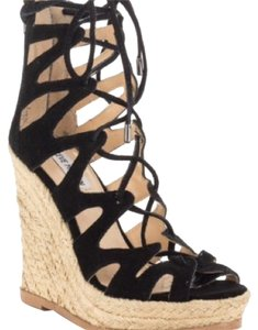 Steve Madden Black suede Wedges