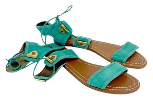 Twelfth St. by Cynthia Vincent Turquoise Suede Sandals