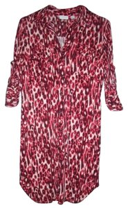 New York & Company Leopard Stretch Sexy Wild Dress