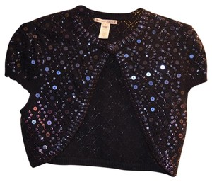 Nanette Lepore Shrug Bolero Beaded Sequin Sweater