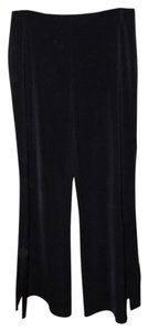 White House | Black Market Side Slits Wide Leg Pants black
