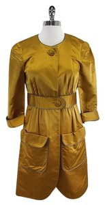 Vera Wang Mustard Yellow Silk Jacket