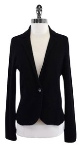 Aqua Black Cashmere Sweater Jacket