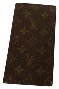 Louis Vuitton Auth LOUIS VUITTON Monogram Agenda HorizontalPocket Book Cover Brown Still Good Condition