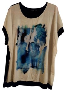 Apt. 9 Summer Plus-size T Shirt Black, White, Blue, and Green