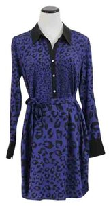 The Letter short dress Blue Leopard on Tradesy