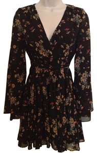 Free People short dress Black Retro on Tradesy