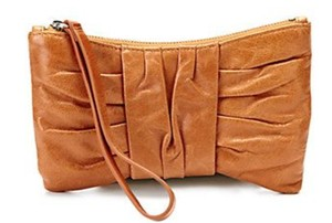 Hobo International Leather Bow Trixie Tan Wristlet in CARAMEL