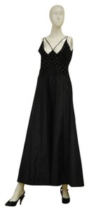 Badgley Mischka Size 10 Silk Designer Gown Made In Usa Dress