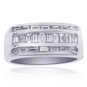 Avital & Co Jewelry 2.00 Carat Baguette Cut Channel Setting Mens Ring 14k White Gold
