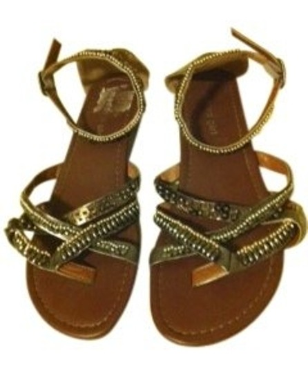 Preload https://img-static.tradesy.com/item/18693/madden-girl-gunmetal-with-bronze-silver-and-gold-beads-sandals-size-us-7-0-0-540-540.jpg