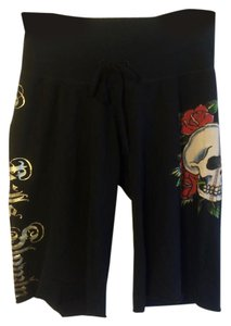 Ed Hardy Cut Off Shorts Black