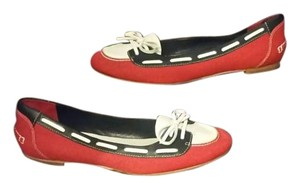 Cole Haan Multi - Red ,Navy & White Flats