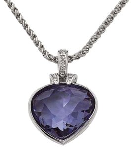 Swarovski NWT SWAROVSKI #1791275 OCEANIC PENDANT CRYSTAL NECKLACE HEART Purple