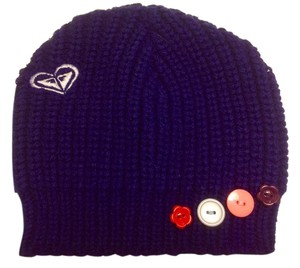 Roxy Crochet Knitted Casual Button Beanie