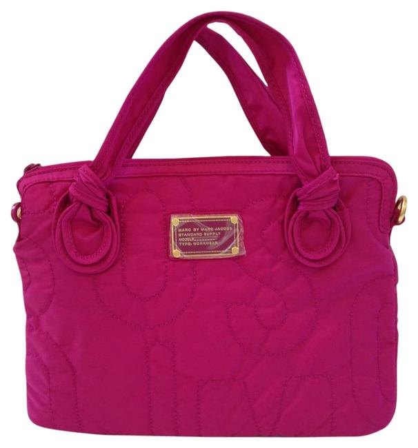 Item - Standard Supply Quilted Padded Magenta Nylon Laptop Bag