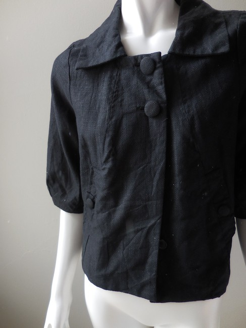 H&M Cropped Casual 3/4 Sleeve Black Jacket
