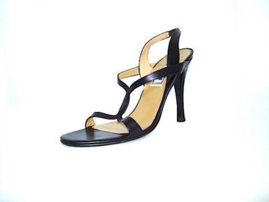 Versace Gianni Womens Leather Strappy Slingback Sandal Black Pumps