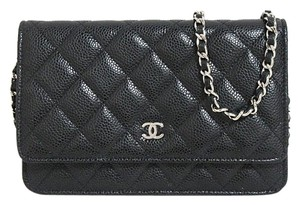 Chanel Leather Woc Wallet On Chain Cross Body Bag