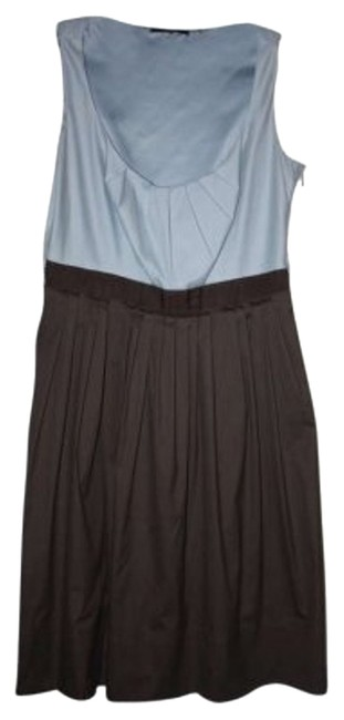 Elie Tahari short dress Brown and light blue on Tradesy