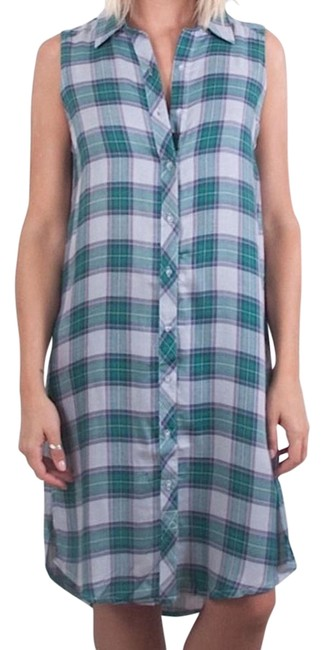 5fa44724d durable modeling The Laundry Room Lonestar Button Up In Clover Plaid Size  Small New Maxi Dress