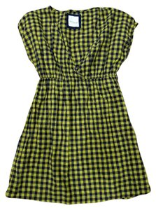 Forever 21 short dress Yellow and Dark Navy Checkered on Tradesy