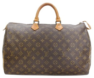 Louis Vuitton Speedy 40 Monogram Keepall Satchel in Brown