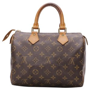 Louis Vuitton Speedy Lv Classic Satchel in Brown